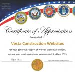 Vesta Construction Websites 'Rocks it' at Event